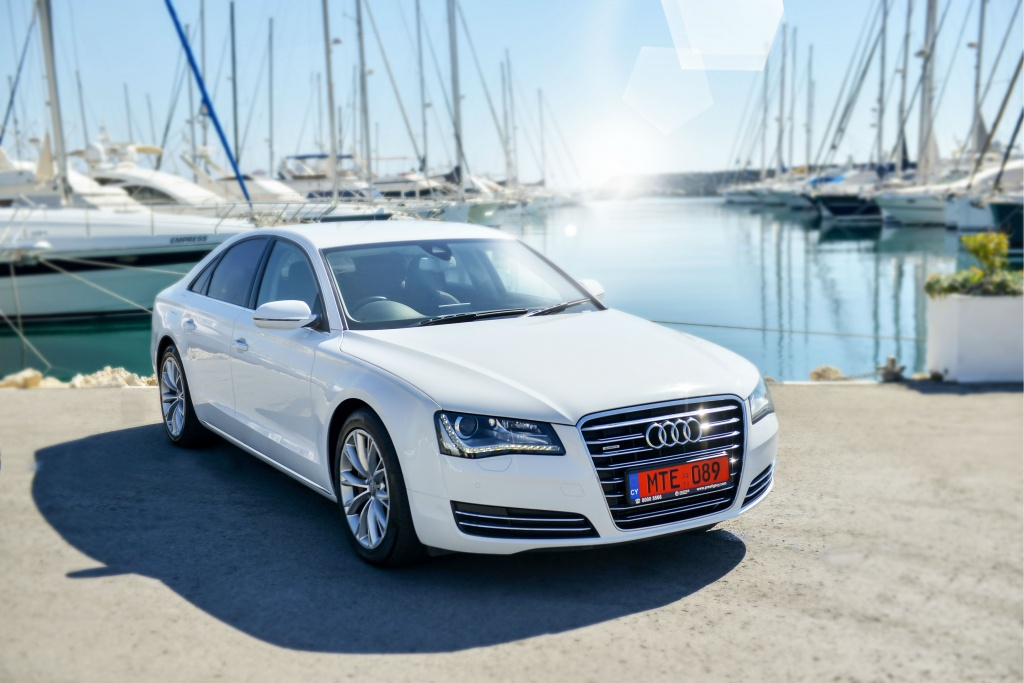 Audi A8 for rent in Cyprus
