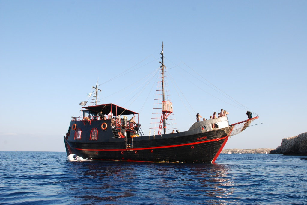 Pirate yacht Flisvos in Cyprus