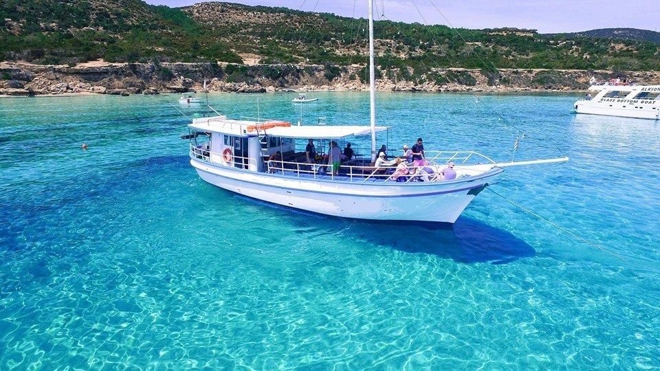 Traditional Greek yacht in Latchi