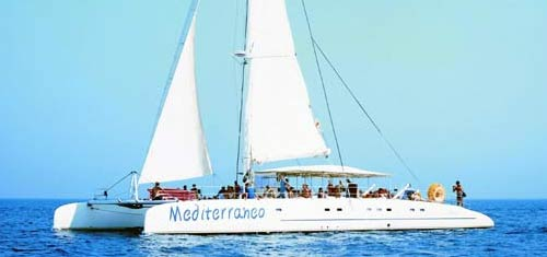 Catamaran Mediterreneo for hire in Agia Napa